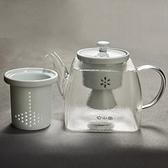 玻璃水壺-方型蒸煮雙內膽耐熱茶壺2色74aj20[時尚巴黎]