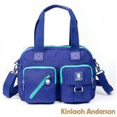 【金安德森】極簡玩色 雙口袋兩用托特包-亮麗藍綠