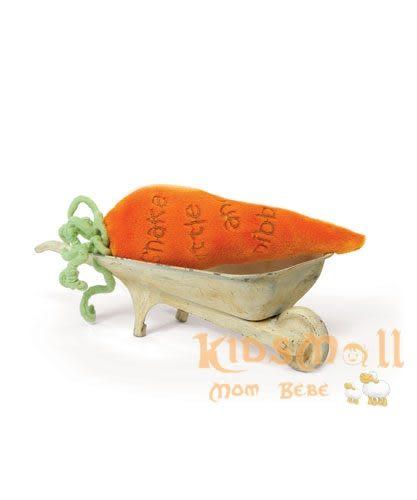 美國Bunnies By The Bay海灣兔,橘蘿蔔手腕搖鈴(15CM), Carrot Rattle
