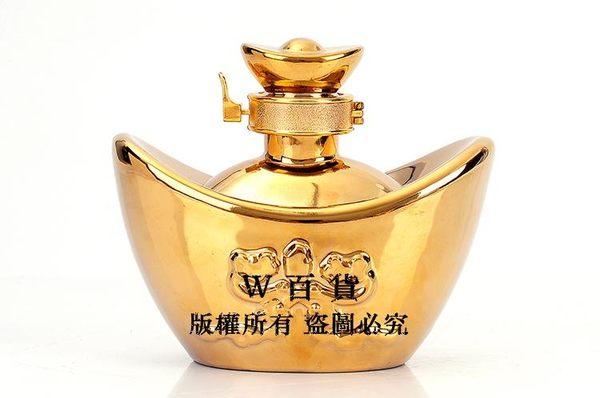 景德鎮陶瓷酒具收藏 密封白酒壺 金元寶 半斤裝