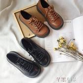娃娃鞋 韓版ulzzang原宿軟妹大頭娃娃鞋百搭復古小皮鞋女學生厚底單鞋 芊墨