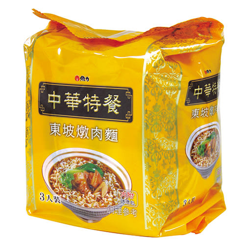 中華特餐東坡燉肉袋麵135g*3【愛買】