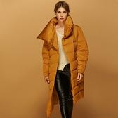 羽絨夾克-長版冬季保暖時尚不規則下擺女外套3色73pv4[巴黎精品]