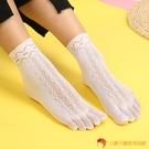 4雙裝 五指襪天鵝絨短筒薄絲襪女分腳趾透氣五趾襪絲襪【小獅子】