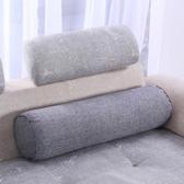 抬腳枕-圓枕汽車護腰護頸枕頭靠抱枕靠枕沙發靠墊 提拉米蘇