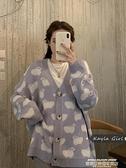 熱賣針織開衫 毛衣外套女年新款秋冬季復古溫柔慵懶風寬鬆外穿針織開衫上衣 新品