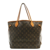LOUIS VUITTON LV 路易威登 原花肩背包 購物袋 Neverfull MM M40156【BRAND OFF】