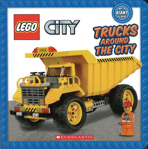 【樂高: 工程車認知書】LEGO CITY : TRUCKS AROUND THE CITY /翻翻書
