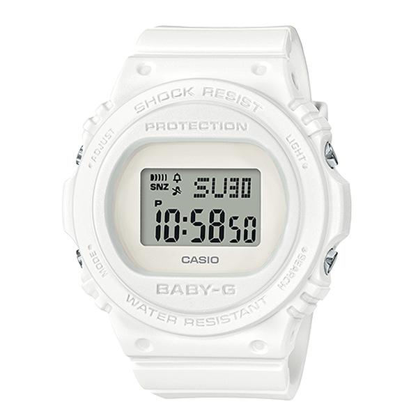 CASIO手錶專賣店 BGD-570-7  BABY-G 經典百搭電子女錶 樹脂錶帶 簡約白 防水200米 BGD-570
