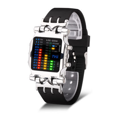 薇閣韓版個性LED電子表多功能潮流時尚夜光防水創意手錶   預購7天+現貨