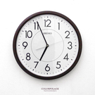 SEIKO精工掛鐘 品味咖啡色外框時鐘 ...