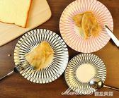 北歐夢幻線條 早餐盤 點心盤 菜盤子西餐盤牛排盤6/8英寸淺盤    蜜拉貝爾