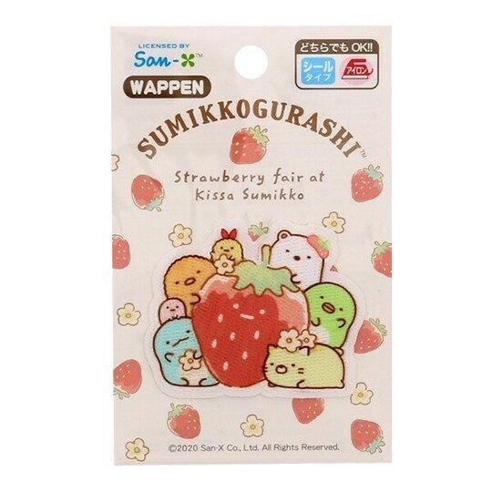 小禮堂 角落生物 造型燙布貼 刺繡布貼 衣服燙貼 布飾 (紅 草莓) 4977576-62034