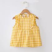 兒童防水圍裙寶寶吃飯衣夏季薄款防臟純棉女孩公主裙罩衣無袖圍兜 幸福第一站