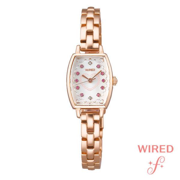 WIRED SEIKO副牌 優雅酒桶型玫瑰金手鍊女錶 1N01-X217K AC3V12X1 公司貨 | 名人鐘錶