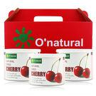 O'natural 歐納丘 純天然整顆櫻桃乾(210g)X3入【美麗購】