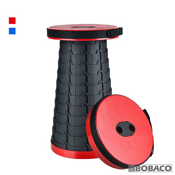 【攜帶式伸縮摺疊椅(紅/藍)】超耐重椅凳 釣魚凳子 旅行攜帶椅 排隊神器 摺疊小椅凳 戶外露營椅