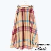 「 Hot item」復古格紋長裙 (提醒 SM2僅單一尺寸) - Sm2