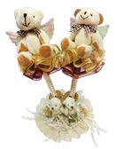 娃娃屋樂園~天使熊-兩枝筆+筆座 每組450元/禮桌佈置/婚禮小物/喜糖籃/謝卡座