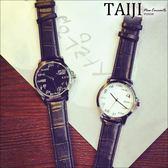 潮流手錶‧情侶款數學公式大錶盤皮質錶帶手錶‧二色【NXD086】-TAIJI-
