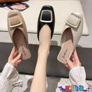 穆勒鞋 包頭半拖鞋女外穿2021奶奶鞋新款粗跟涼鞋無后跟懶人鞋平跟穆勒鞋 寶貝計畫