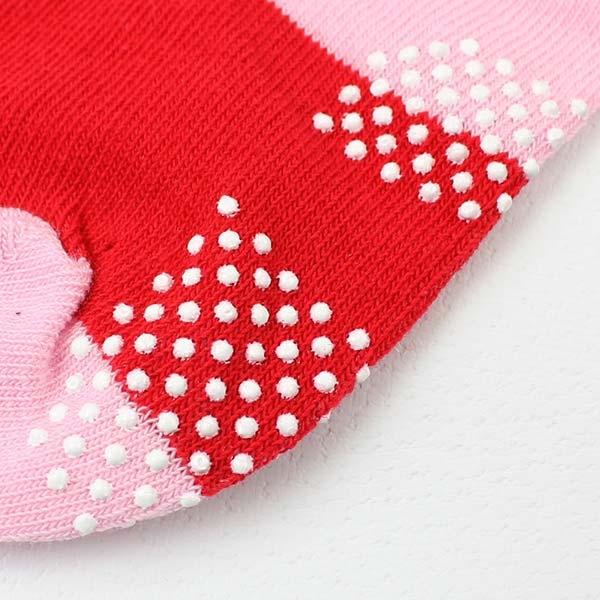 【愛的世界】溜冰鞋圖案止滑透氣短襪/9~17CM-台灣製- ---童鞋童襪