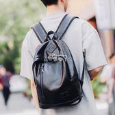 休閒雙肩包男簡約男士背包韓版學生書包電腦男包時尚潮流 俏腳丫