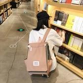 ins風書包女韓版高中背包大學生古著感電腦包時尚雙肩包(快速出貨)
