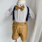 男童西裝夏周歲禮服男寶男寶寶小西裝花童套裝生日六一合唱演出服 幸福第一站