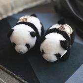 2018正韓流行新品包包掛件 羊毛熊貓掛件 水貂毛獺兔毛兔子掛件 七夕節大促銷