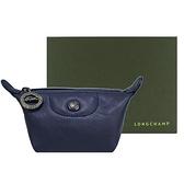 【南紡購物中心】LONGCHAMP LE PLIAGE CUIR系列小羊皮水餃零錢包(海軍藍)