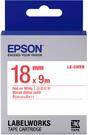 LK-5WRN EPSON 標籤帶 (白底紅字/18mm) C53S655402