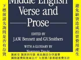 二手書博民逛書店Early罕見Middle English Verse And