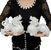 白玉貔貅擺件開光風水大號一對招財鎮宅仿玉貔貅辟邪工藝品裝飾品【全館免運】