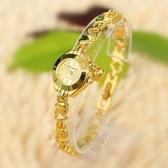 女錶 小手鍊表百搭手錶電鍍金色休閒腕表石英戶外 生日禮物