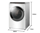 《Panasonic 國際牌》18公斤 變頻滾筒洗衣機 NA-V180HW-W (冰鑽白)