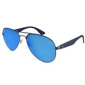 台灣原廠公司貨-【Ray-Ban雷朋】RB3523-029/55-59mm _率性復古飛官款太陽眼鏡(水銀藍鏡面)