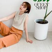 Queen Shop【01150197】簡約素色無袖棉麻背心 兩色售*現+預*