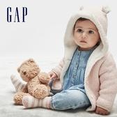 Gap嬰兒 做舊風格水洗鬆緊牛仔褲 616320-藍色