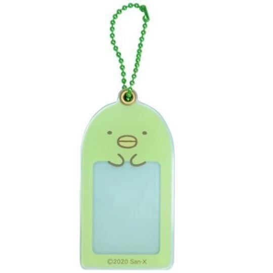 小禮堂 角落生物 企鵝 造型壓克力相片吊飾 相框鑰匙圈 相片吊飾 (綠 大臉) 4548626-12763
