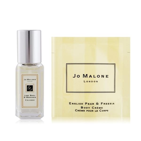 Jo Malone 青檸羅勒葉與柑橘香水(9ml)+英國橡樹與紅醋栗潤膚霜(7ml)
