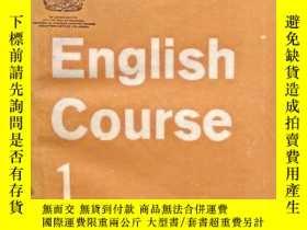 二手書博民逛書店English罕見Course1、2.2冊合售.The Ling