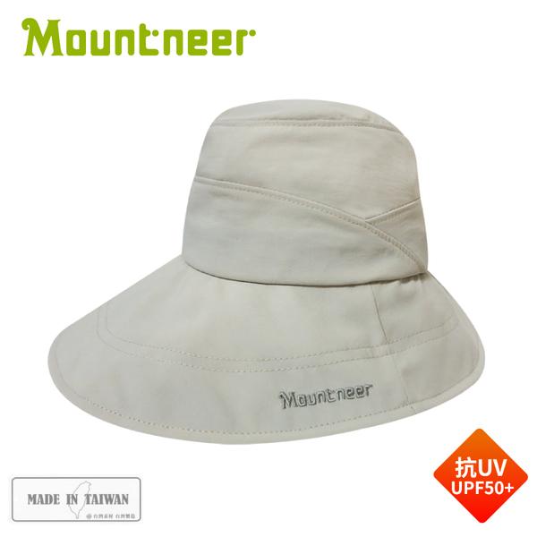 【Mountneer 山林 透氣抗UV大盤帽《米白》】11H19/防曬帽/圓盤帽/漁夫帽/登山/園藝/釣魚