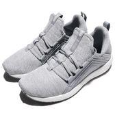 Puma 慢跑鞋 Mega NRGY Knit Wns 灰 白 編織鞋面 輕量避震 運動鞋 女鞋【PUMP306】 19037303