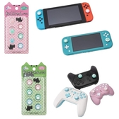 【玩樂小熊】Switch/NSLite用 日本CYBER 貓咪肉球 喵爪滑蓋墊 類比套 限定動物森友會配色