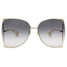 GUCCI 墨鏡 GG0252S (金) 蝶型 大框款 漸層灰 太陽眼鏡 久必大眼鏡