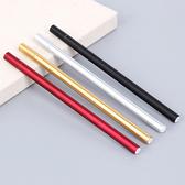 ✭慢思行✭【P137】金屬手感中性筆 0.5mm 黑色 學生用品 設計 辦公用品 創意 文具