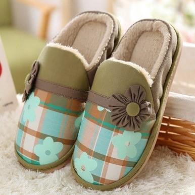 家用 冬季 包跟 防滑厚底 保暖 居家拖鞋