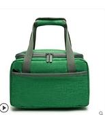 加厚裝飯盒袋子鋁箔保溫袋帆布帶飯菜的便當包冷藏上班手提袋