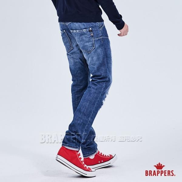 BRAPPERS 男款 HM-中腰系列-全棉直筒垮褲-藍